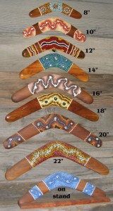 Traditional Dot Art boomerangs
