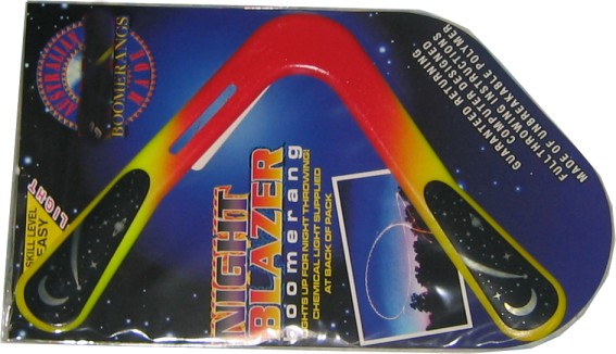 Night Blazer polymer boomerang to light up your night