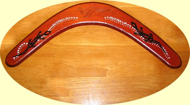 The most popular returning souvenir boomerang