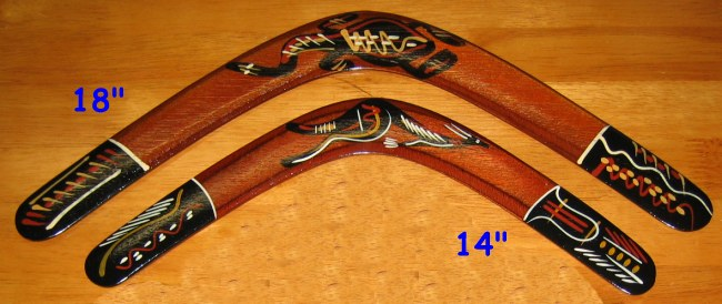 Light Aboriginal Returning Boomerang