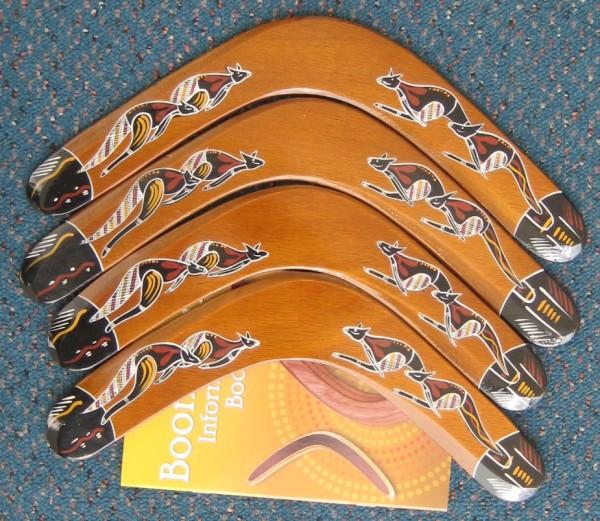 returning hand painted boomerangs
