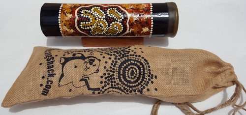 Emu caller packed in jute gift bag