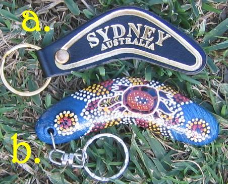 Boomerang key chains