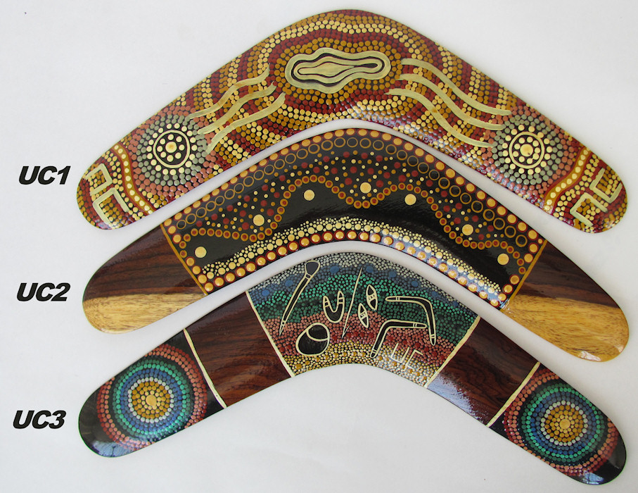 Collectable boomerangs - traditional dot art