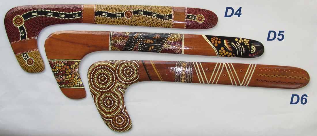 Hook boomerangs | Collectable aboriginal dot art